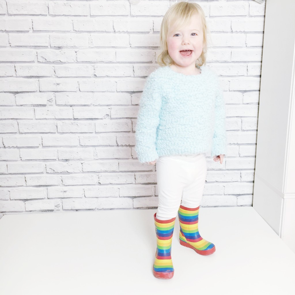 kids rainbow welly boots