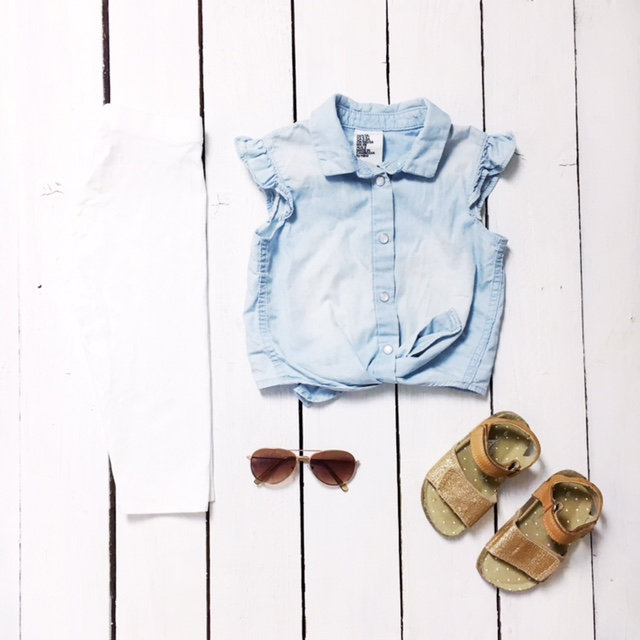kids fashion flatlay h&m gap