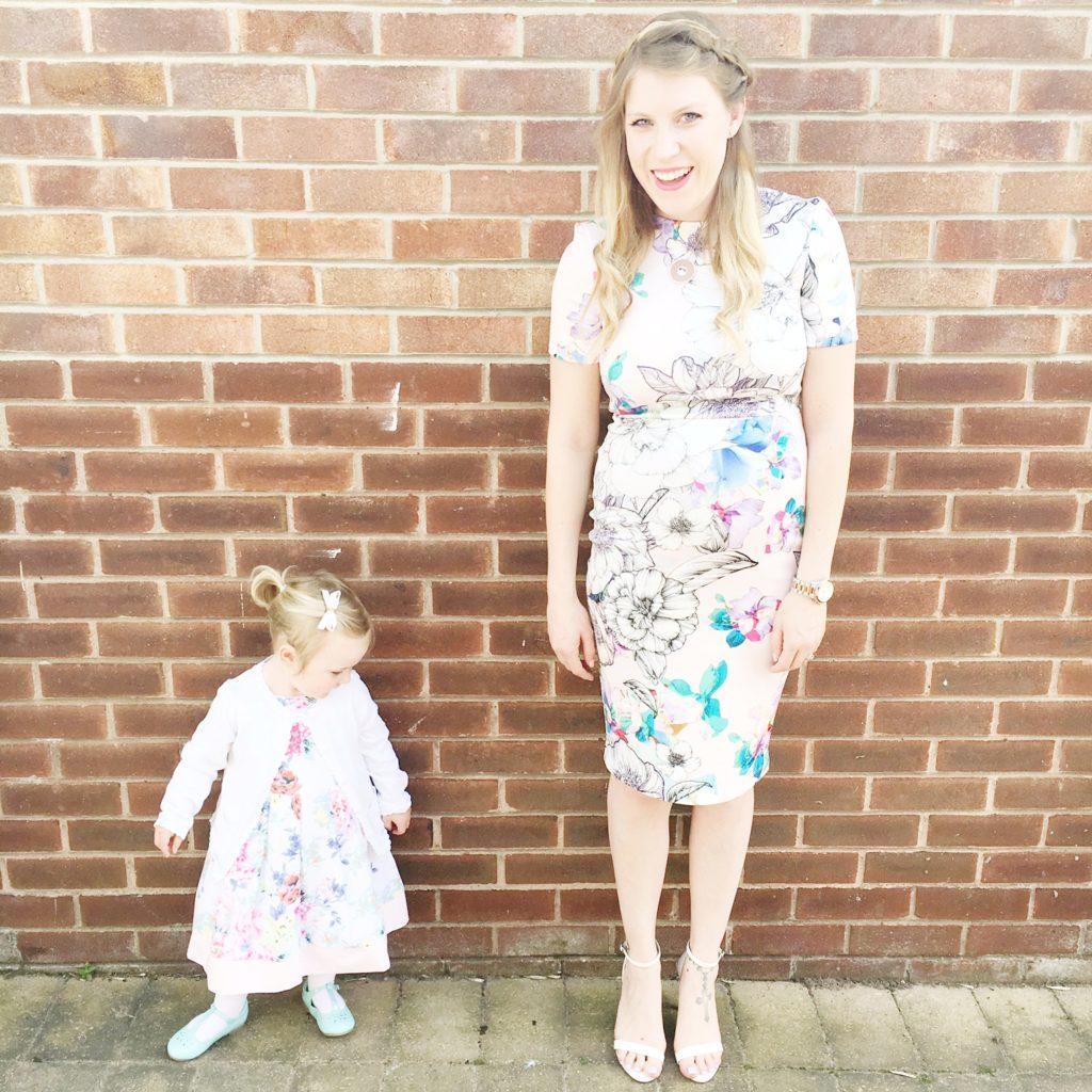 mum and daughter floral dresses
