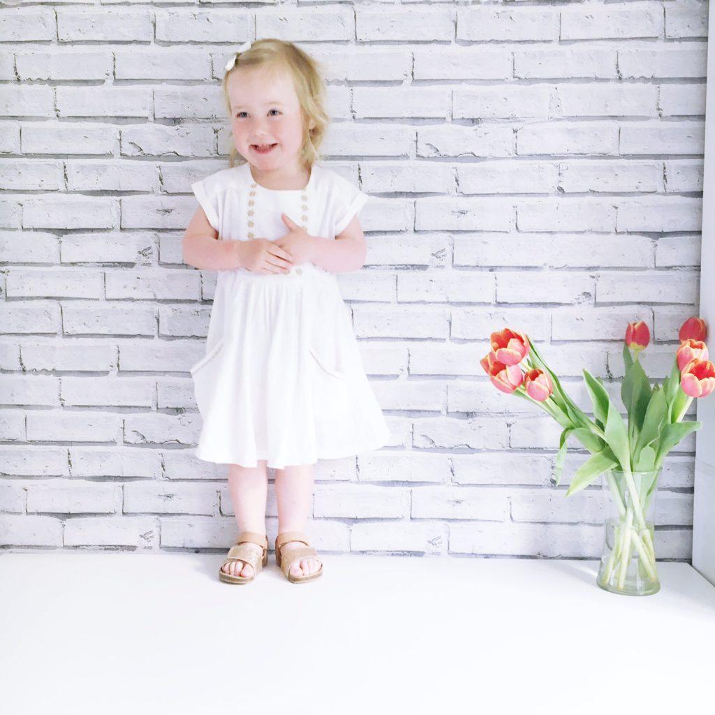 next girls white dress toddler fashion