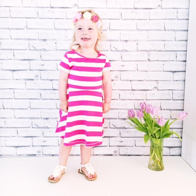 next stripe dress flower crown primark