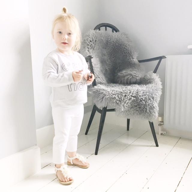 toddler style messy bun scandi home
