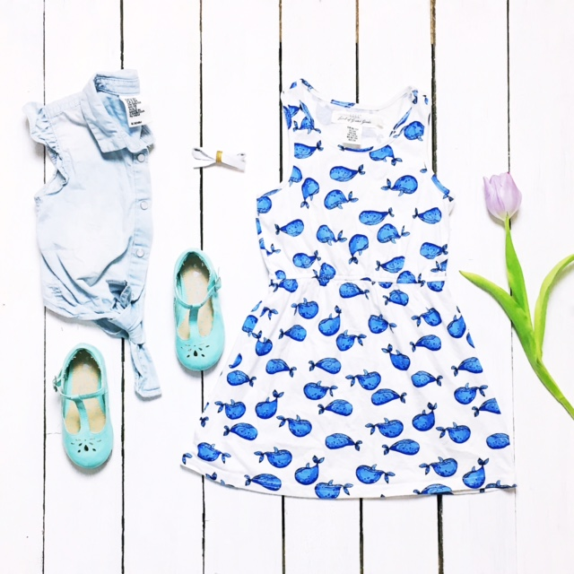 weekend tot style h&m whale dress next shoes