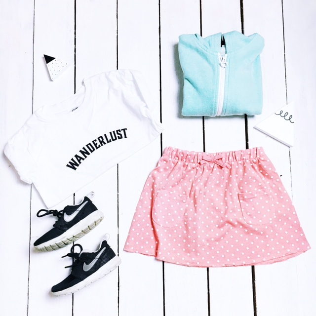 kids girls fashion flat lay george asda wanderlust nike