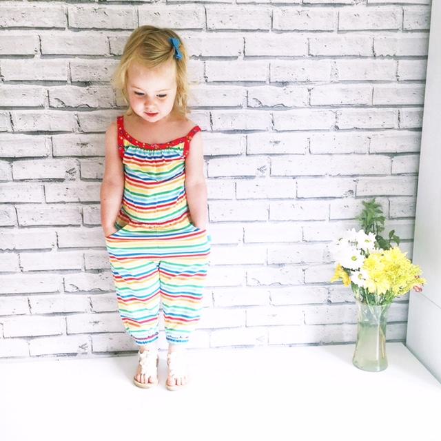 little bird rainbow stripe jumpsuit kids toddleroutfit