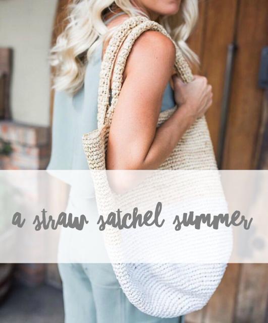 a straw satchel summer