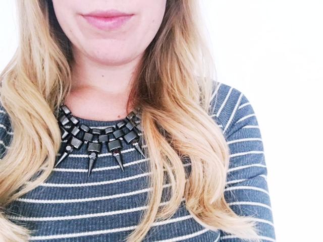 maternity pregnancy workwear fashion ootd next dress spike necklace