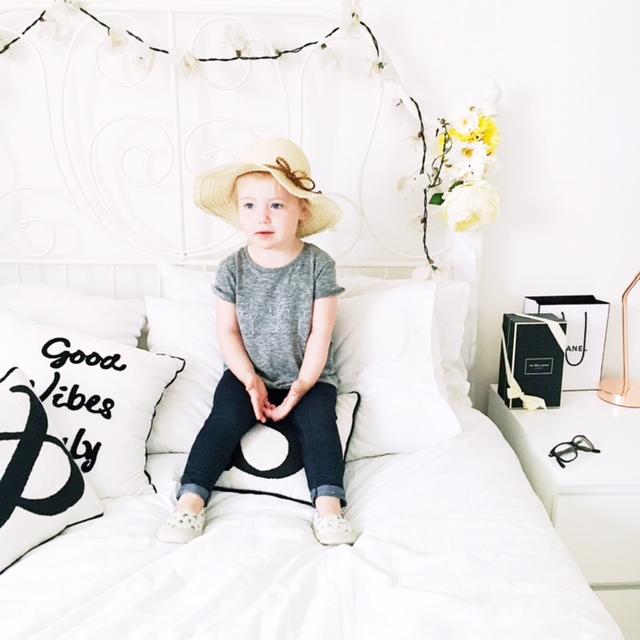 next girls magnifique tee hm hat kids fashion style ootd 2