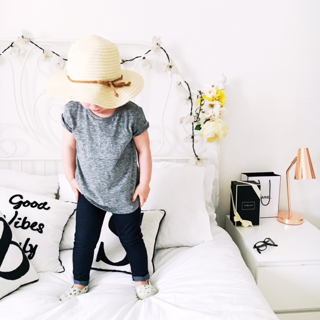 next girls magnifique tee hm hat kids fashion style ootd