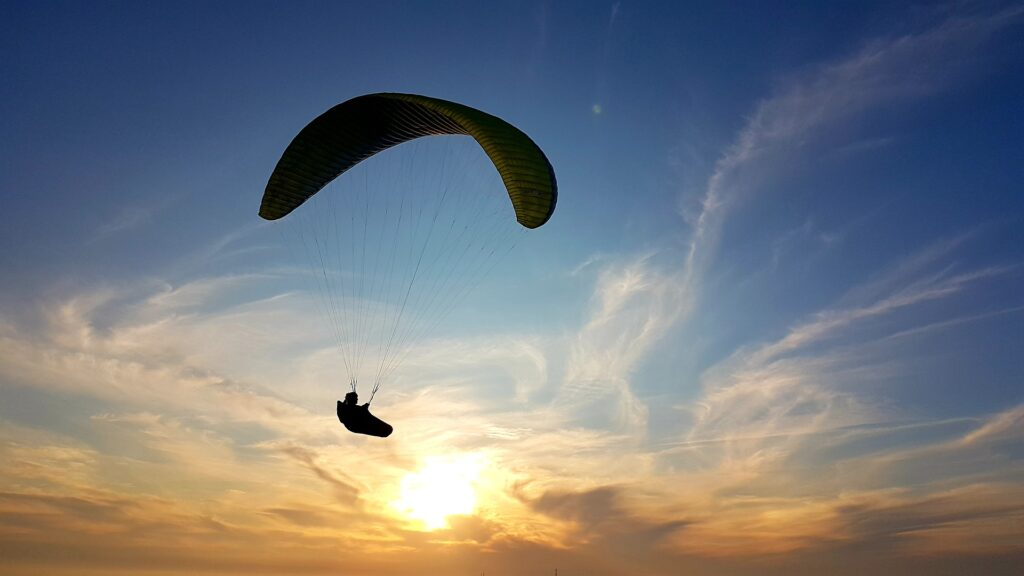 """The """"I Am"""" exercise  - freedom in the sky paraglider"""