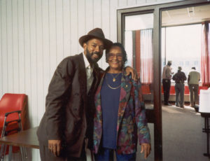 Michael with Etta Baker at the 1st Bluebird Blues Festival, Largo, Maryland USA (1993)
