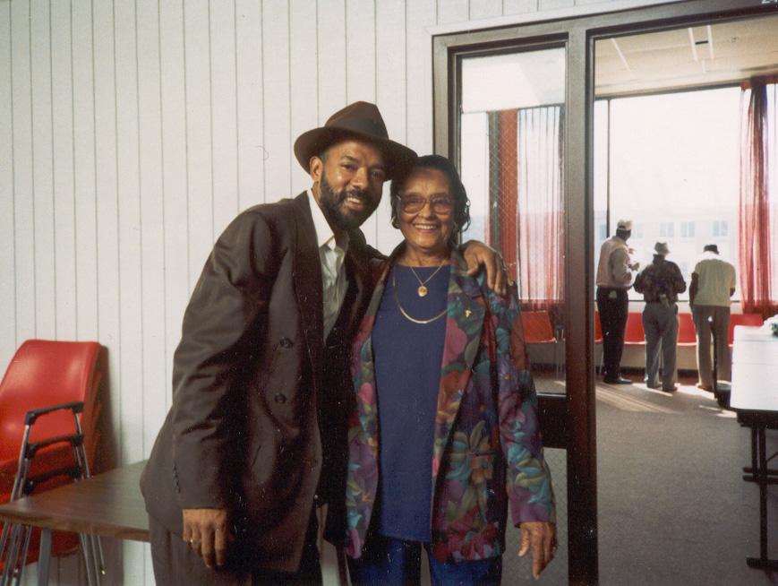 Michael with Etta Baker at the 1st Bluebird Blues Festival, Largo, Maryland USA (1993)