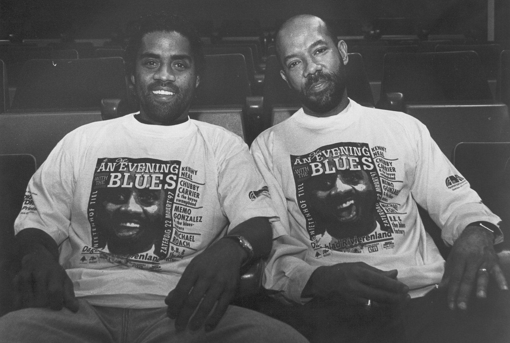 Kenny Neal and Michael at the Tiel Blues Festival, Netherlands (1997)