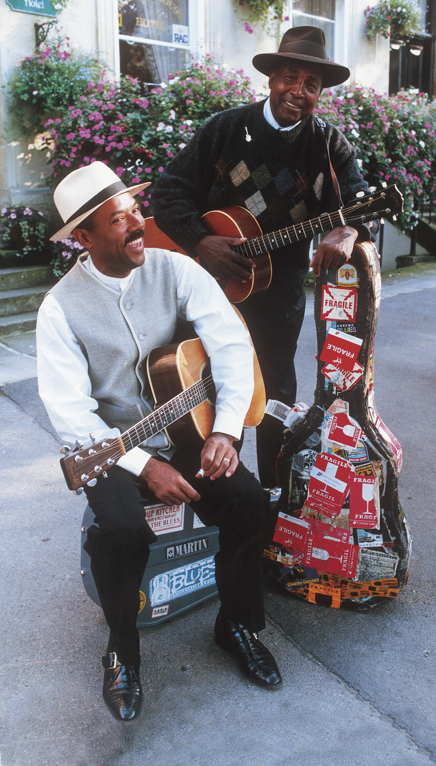 Michael with John Jackson in Cheltenham, UK (1997)