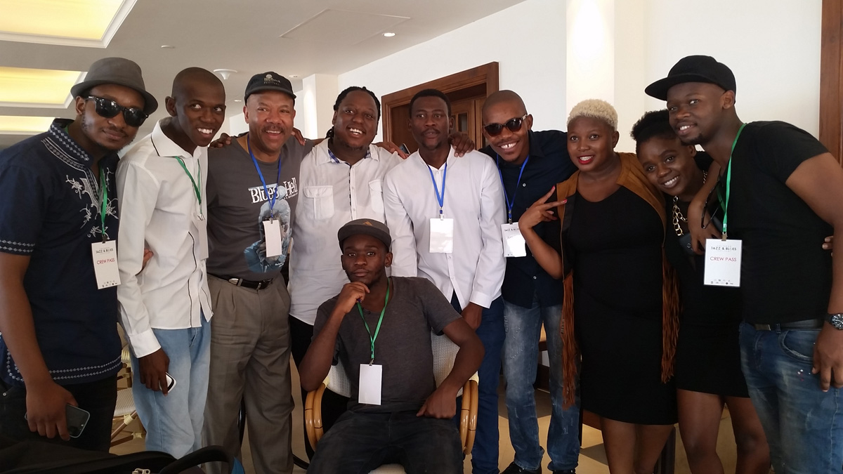 Michael with The Untouchables from S. Africa at the Colombo Jazz & Blues Festival, Sri Lanka (2016)