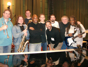 Michael Roach Band recording session, BBC Maida Vale Studios, London, UK (2007)
