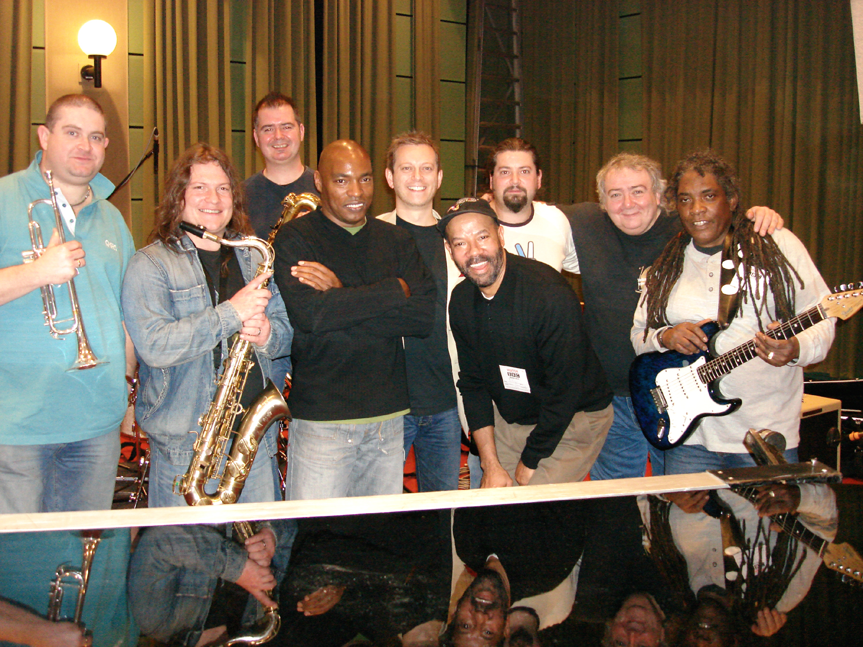 Michael Roach Band recording session, BBC Maida Vale Studios, London, UK (2007)