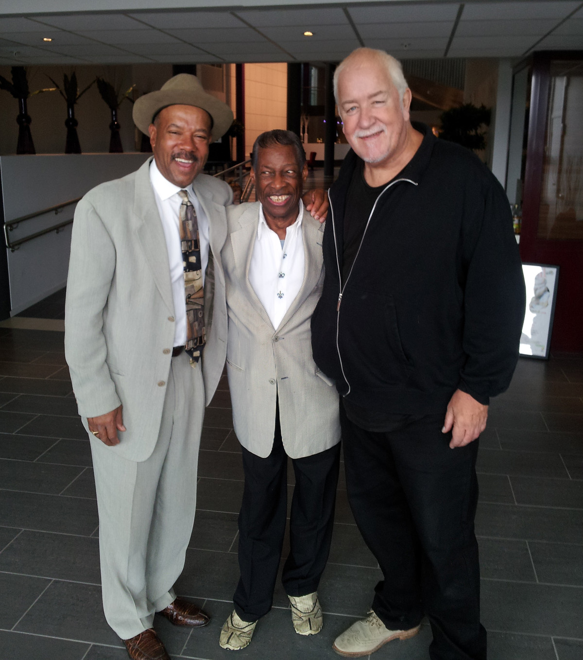 Michael with Little Willie Littlefield and Diz Watson, Hell Blues Festival, Norway 2012