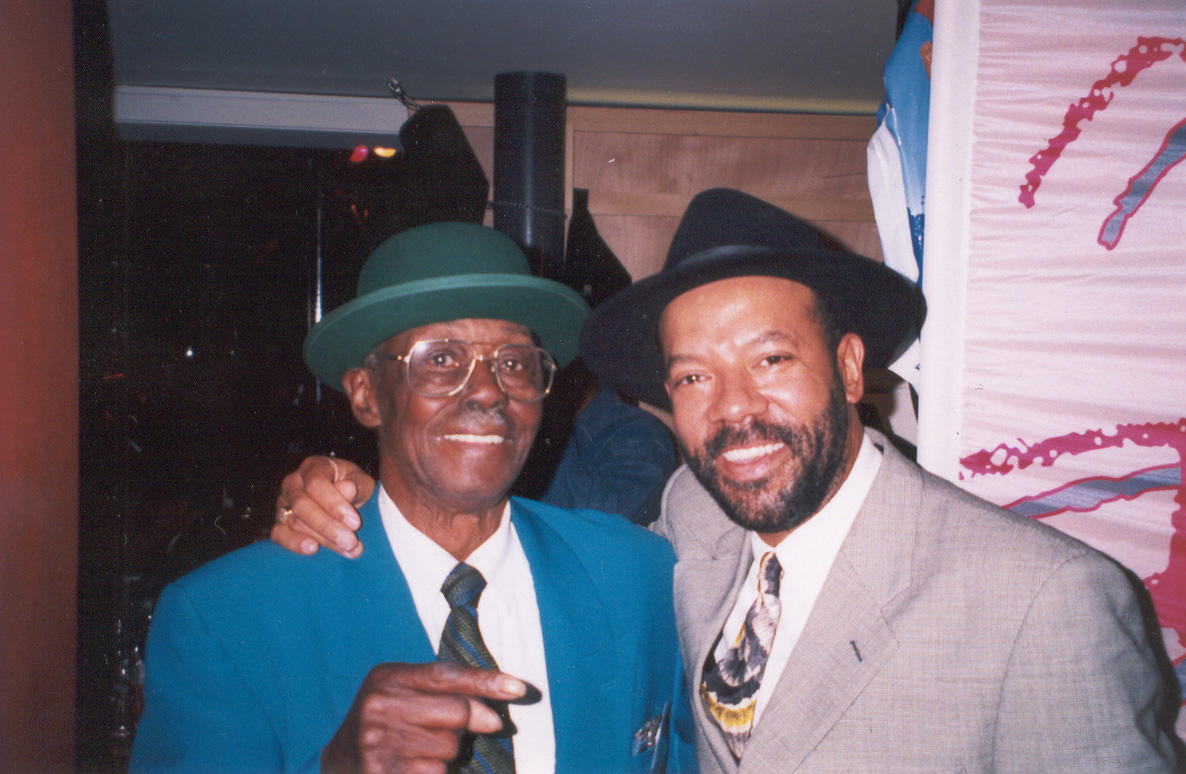 Michael with Pinetop Perkins at the Lucerne Blues Festival, Switzerland (1999)