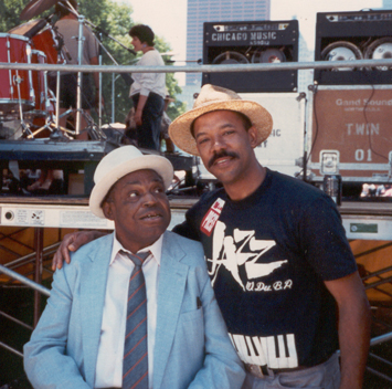 Michael and Willie Dixon, Chicago, USA (1990)