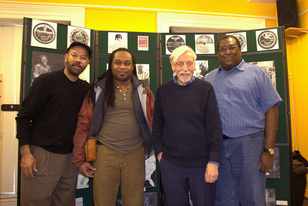 Michael with Russ Green, Paul Oliver and Rick Franklin, Gloucester, England 2007