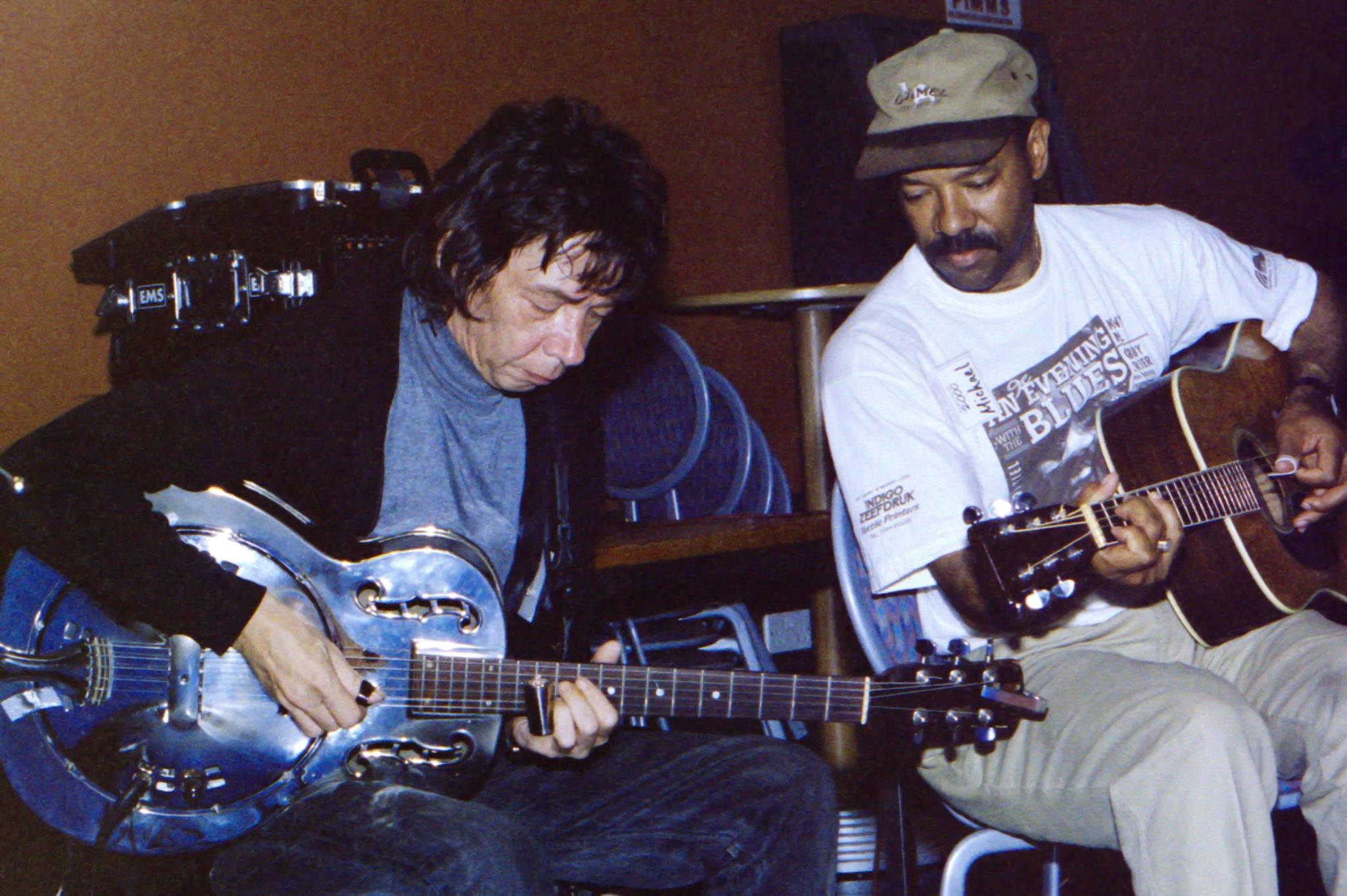 Michael with Sam Mitchell, Exeter University, England 2000