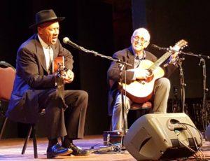 Michael with John Miller at Port Townsend, Washington, USA 2017