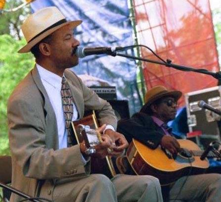 Michael with Philadelphia Jerry Ricks, Chicago Blues Festival 1998