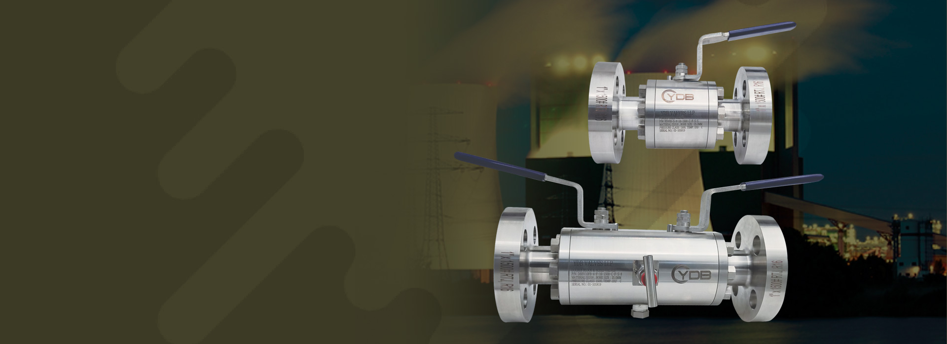 Forged flanged end ball valves manufactured by YDB Valves LLP