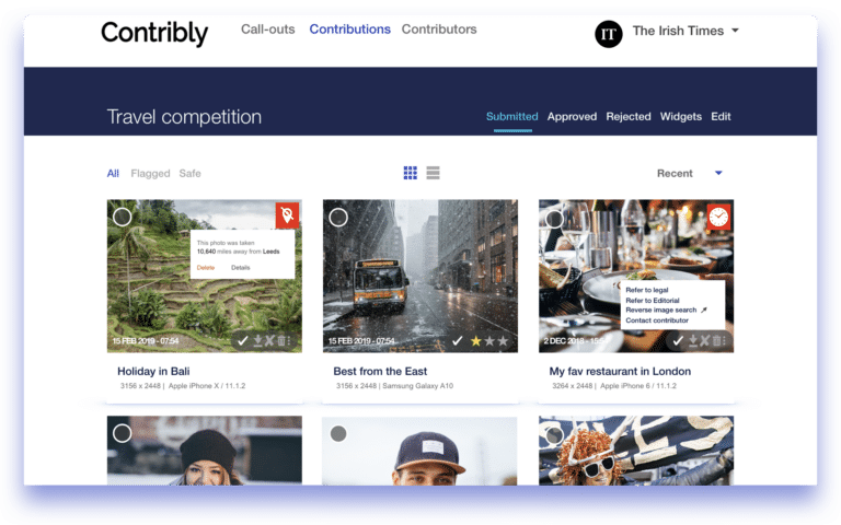 Contribly HUB call-out contributions moderation tool