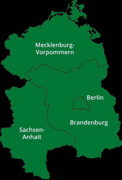 Region Ostdeutschland und Mercer Holz Betriebe