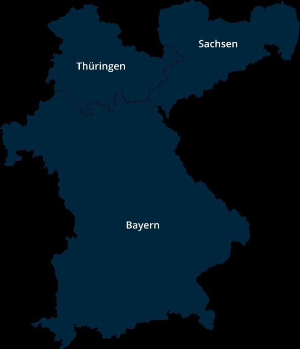 Region Süddeutschland und Mercer Holz Betriebe