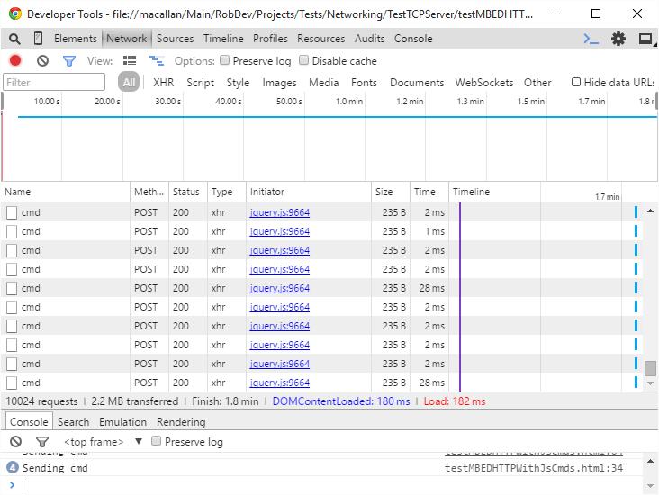20150830 Chrome timing of POST 900 LED values