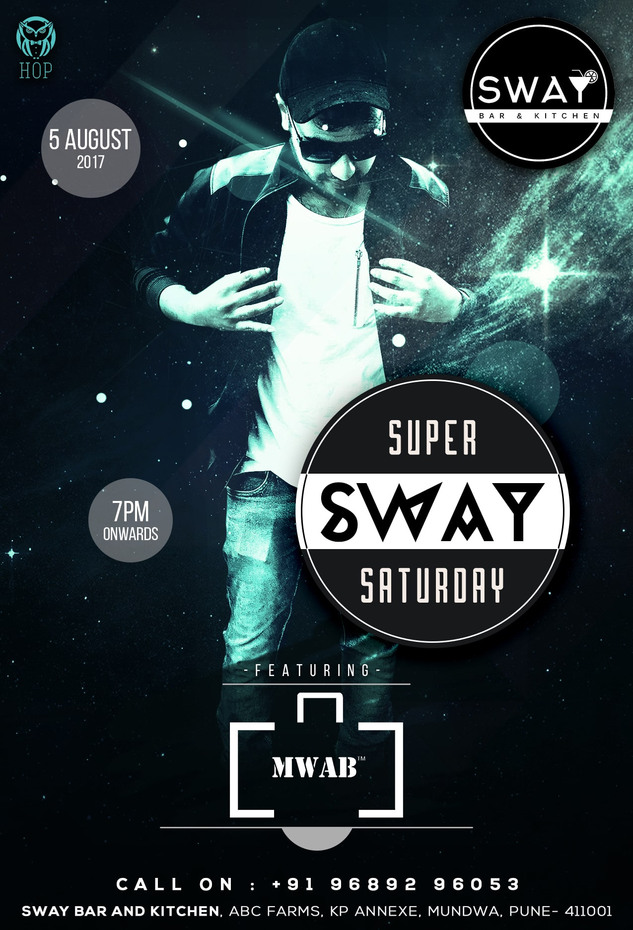 Sway Party Flyer