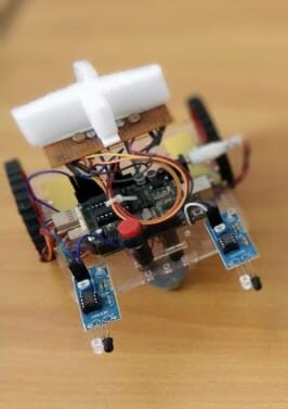 Light Follower with IR based Obstacle Avoidance