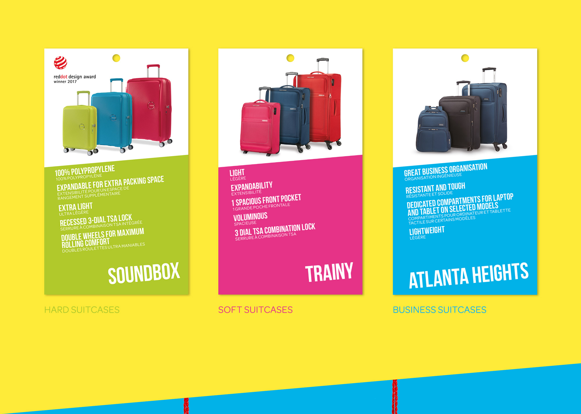American Tourister Insert Cards