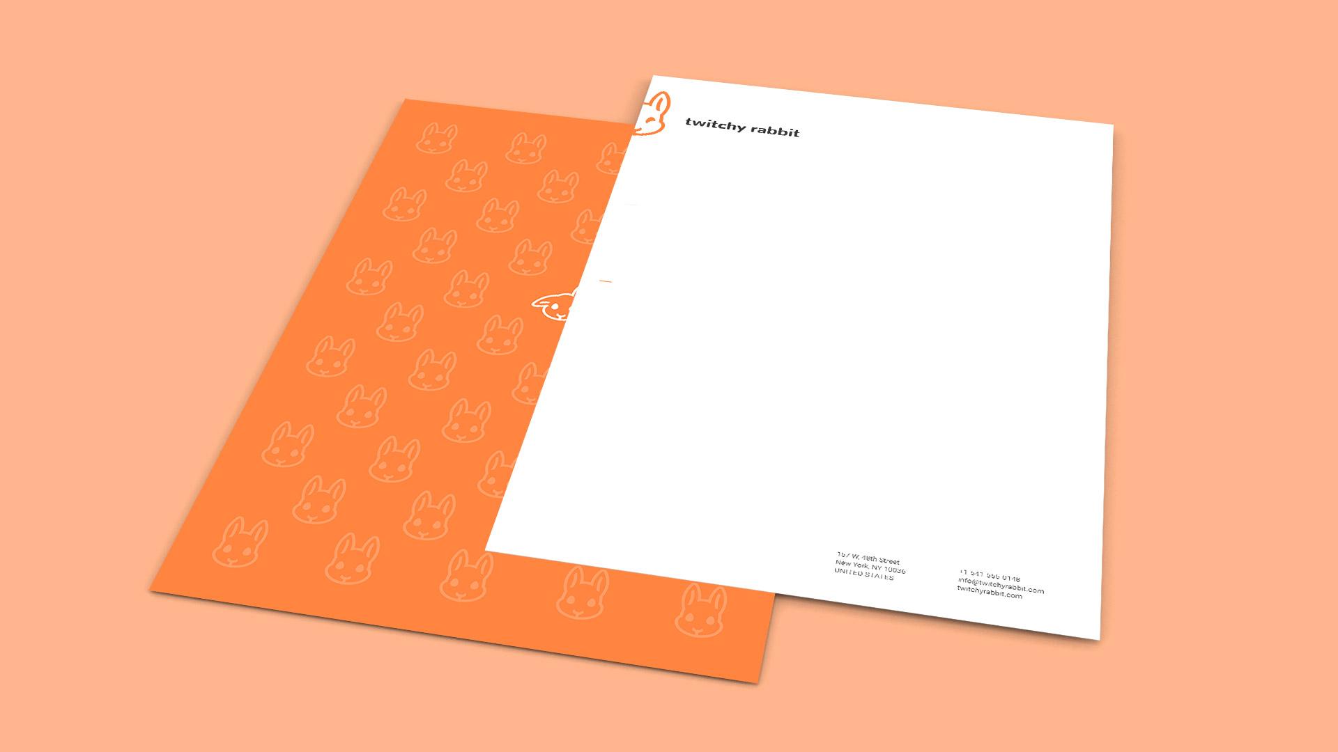 Twitchy Rabbit letterhead