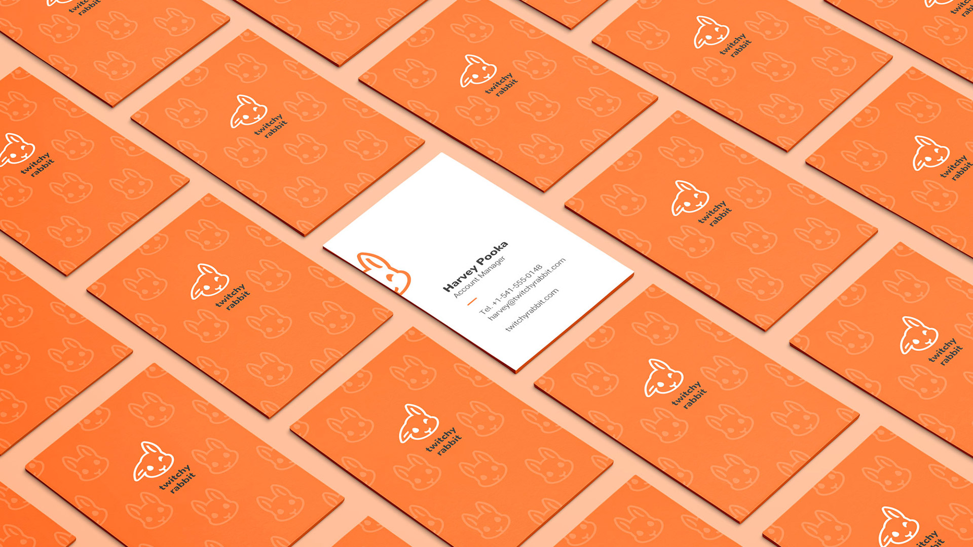 Twitchy Rabbit business cards