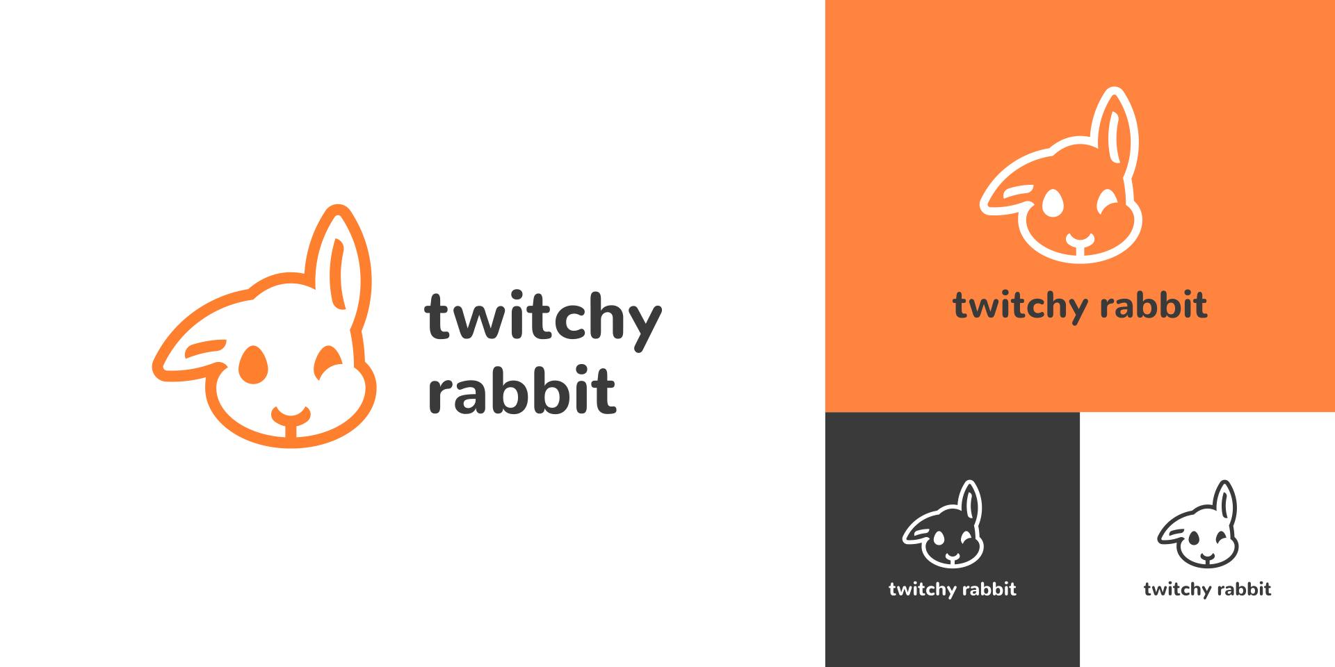 Twitchy Rabbit logo versions