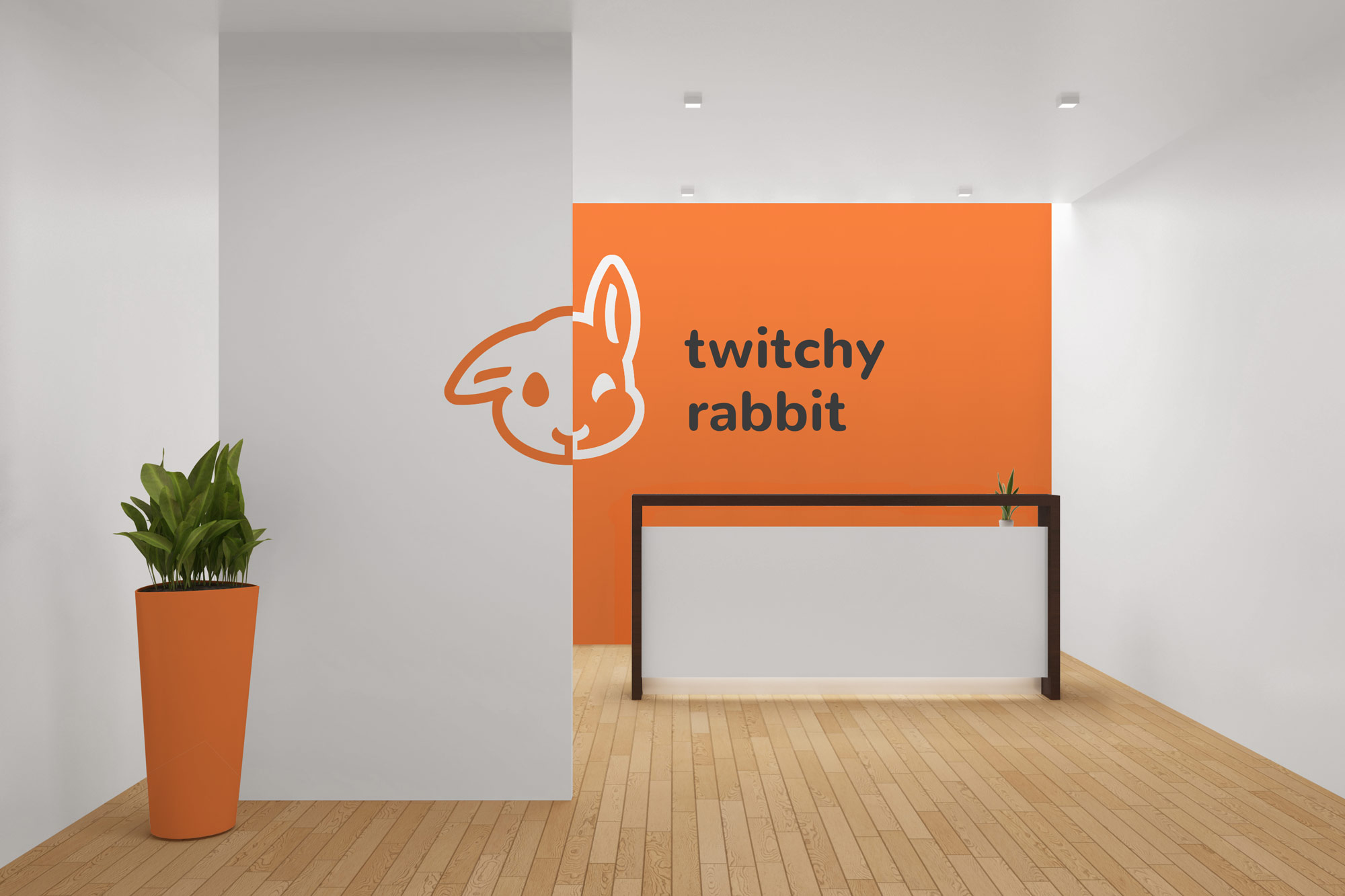 Twitchy Rabbit reception desk