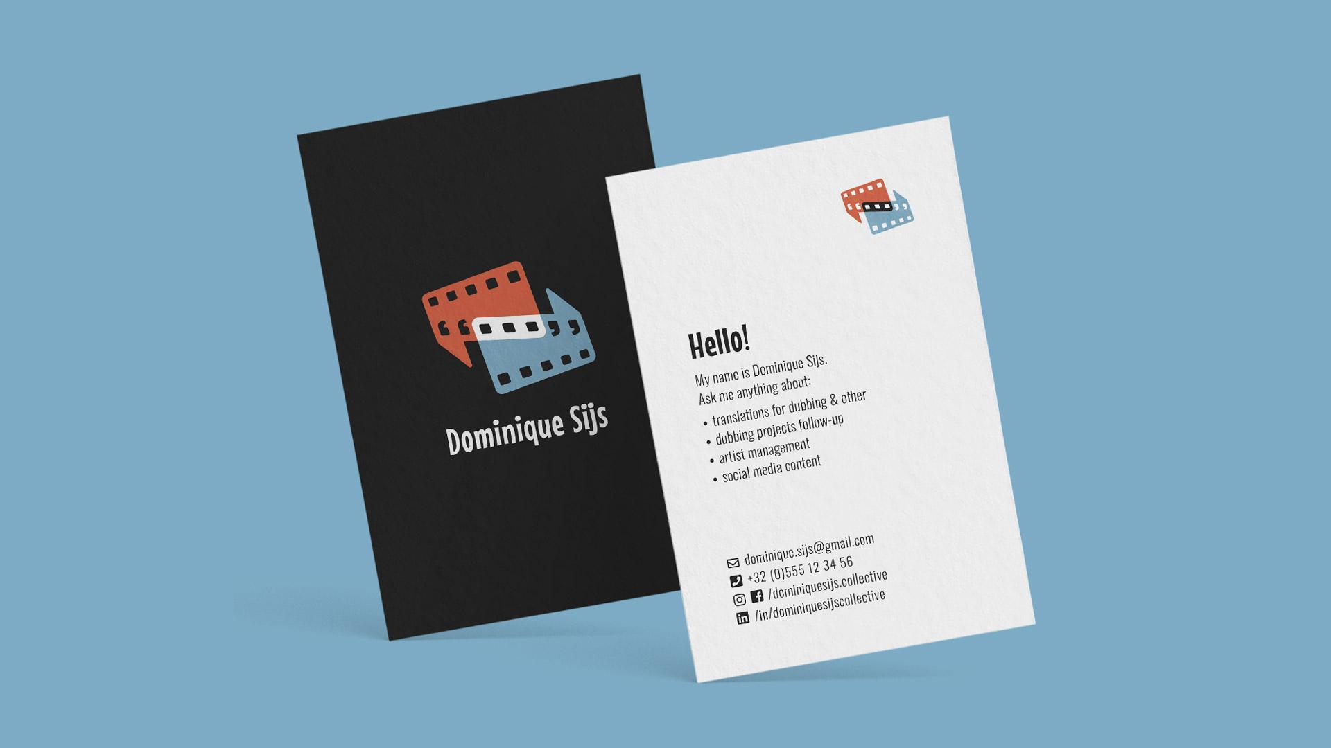 Dominique Sijs business card