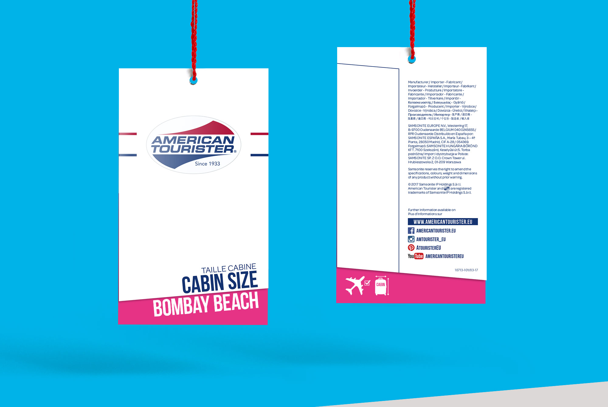 American Tourister Closed Hangtag