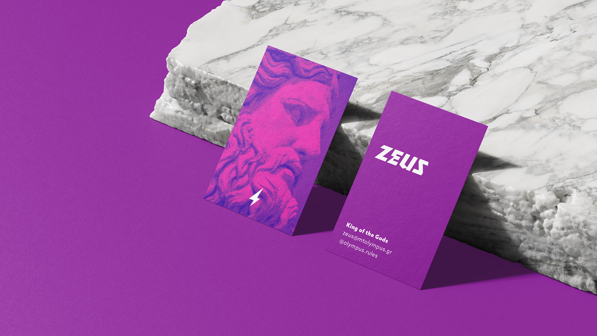 Zeus business card