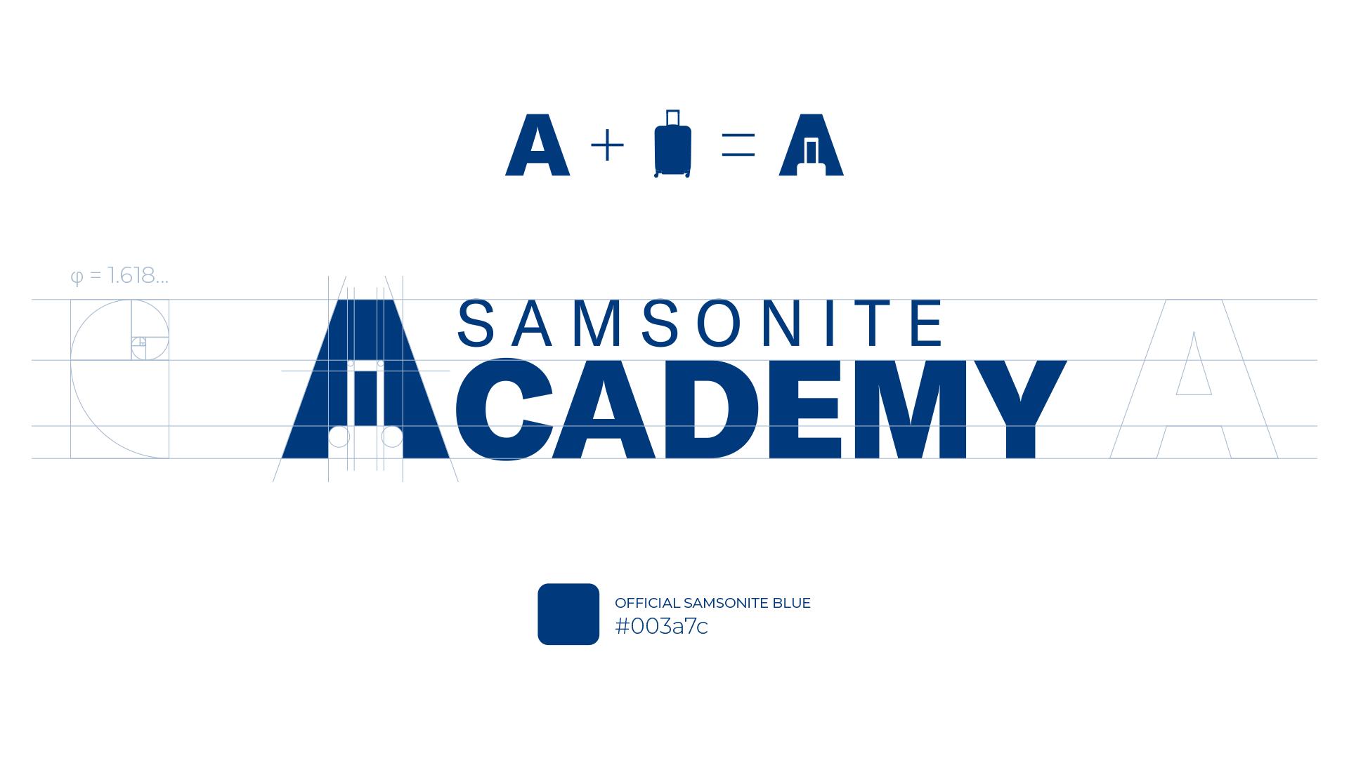 Samsonite Academy logo grid