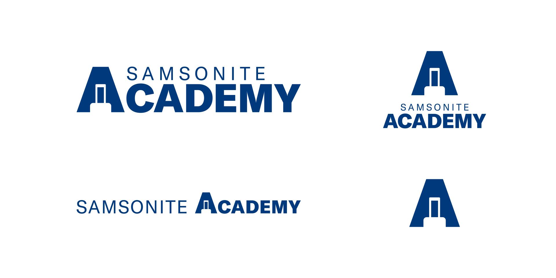 Samsonite Academy logo on white