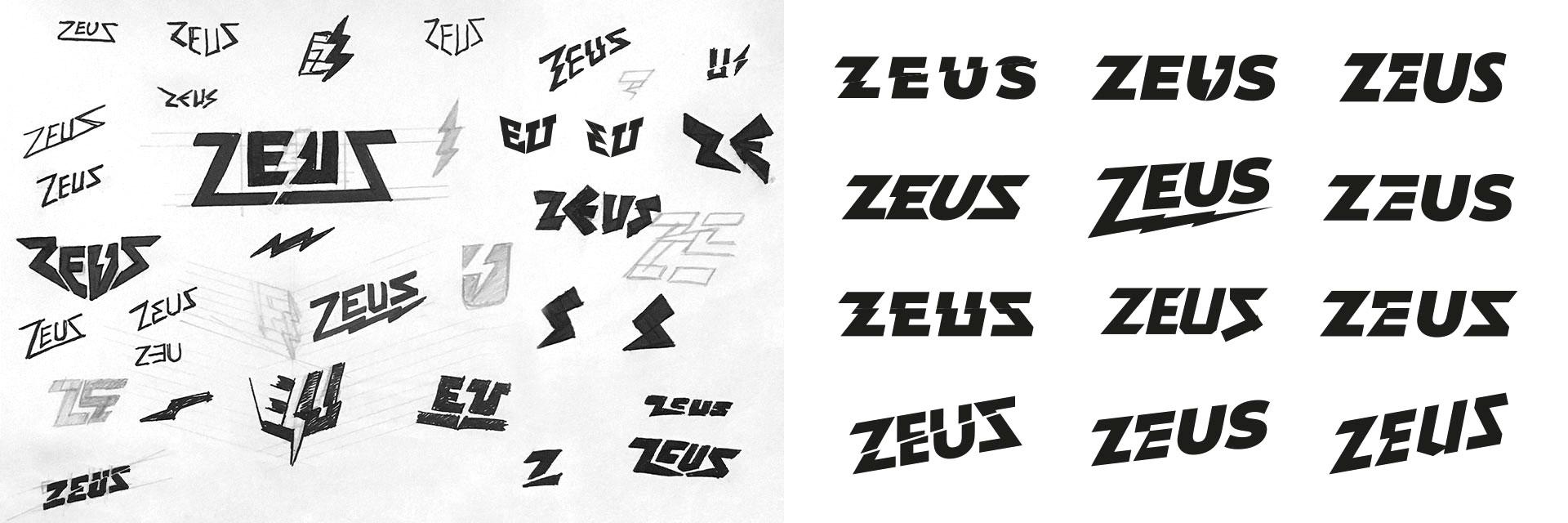 Zeus logo concept sketches