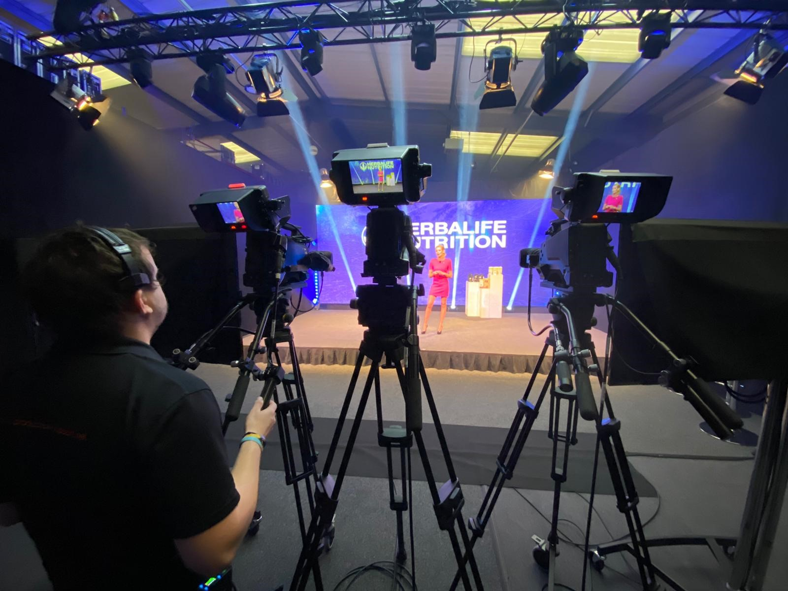 Stage lighting by production support services