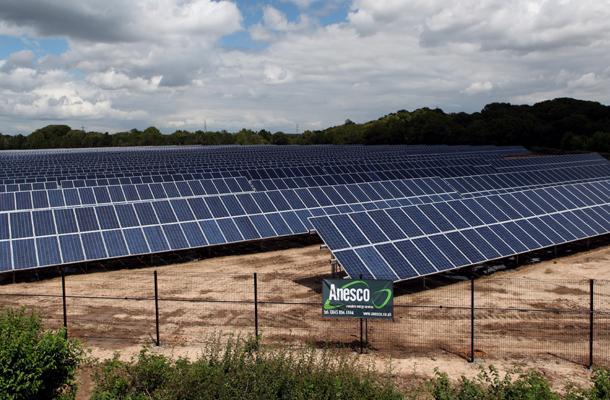 ground screw foundation cadland solar farm