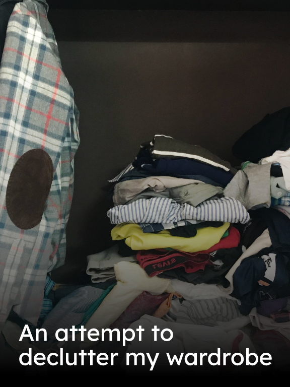 I got rid of 34 pieces of clothing