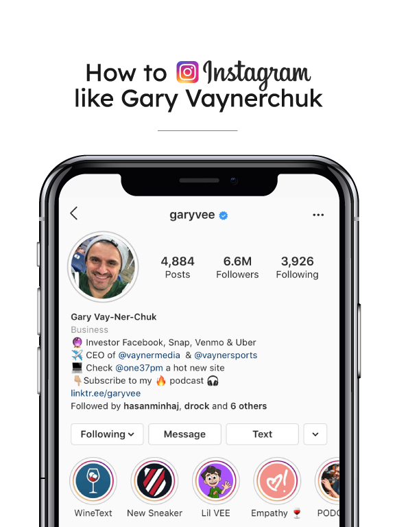 How to Instagram like Gary Vaynerchuk